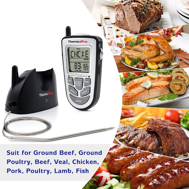 thermopro tp09 digital wireless meat food thermometer