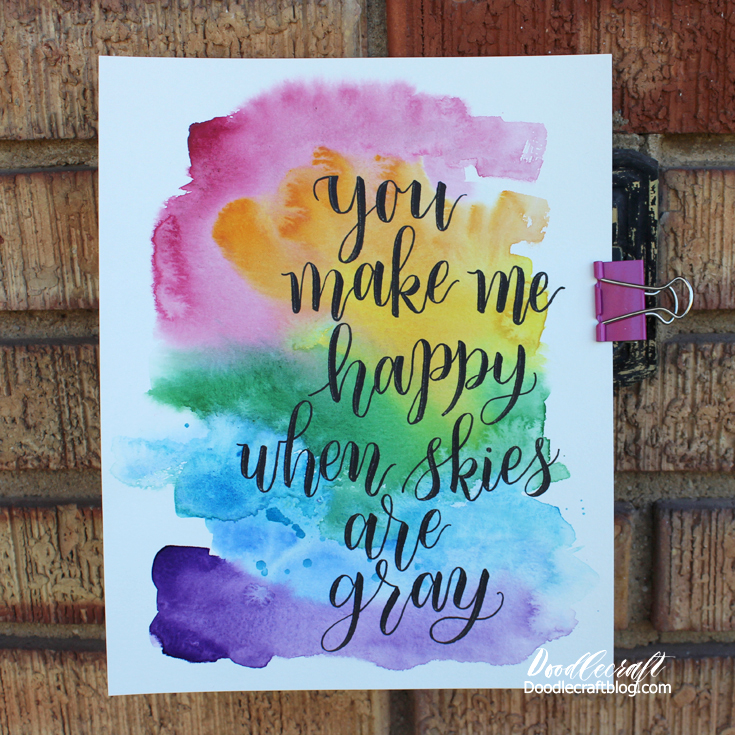 Doodlecraft Watercolor Wash Calligraphy Lettering Quotes Mesmerizing Quotes Calligraphy
