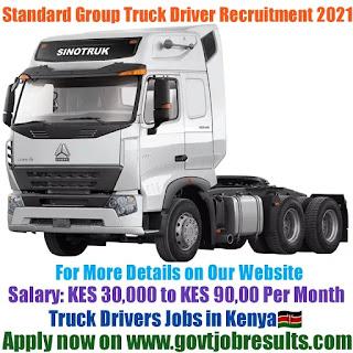 Standard Group Truck Driver Recruitment 2021-22