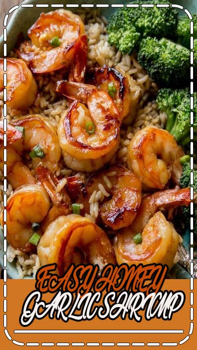 EASY and healthy 20 minute dish the whole family will love! Recipe for honey garlic shrimp on