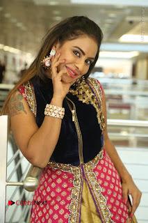 Telugu Actress Sri Reddy Mallidi Stills in White Beautiful Dress at Marriage Needs Bridal Fashion Week 2017 Logo Launch  0135.JPG
