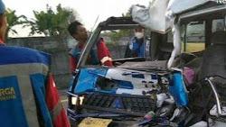Bus L300 Asal Sibolga Tabrak Dum Truk di Tol Amplas, 2 Orang Tewas