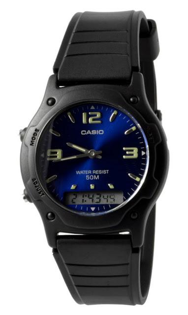 Reloj Casio azulado retro