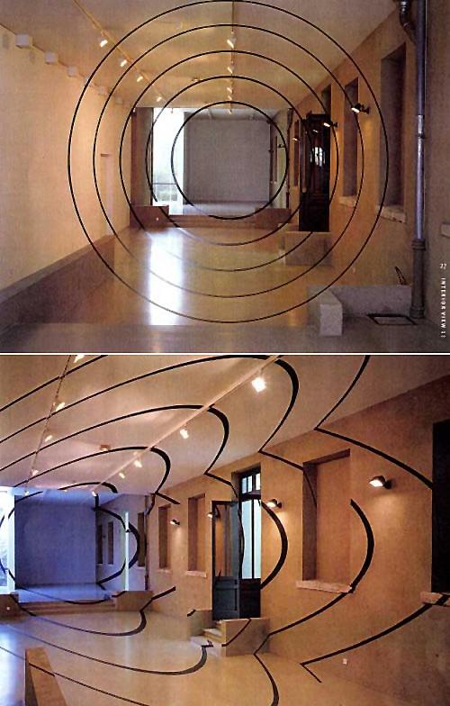 Dekorasyon Optik İllüzyon Anamorfik Çemberler
