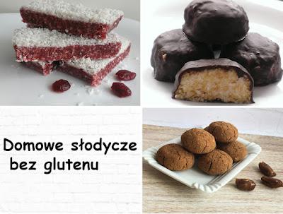 Zdrowe słodycze bez glutenu z wiórkami, daktylami i żurawiną