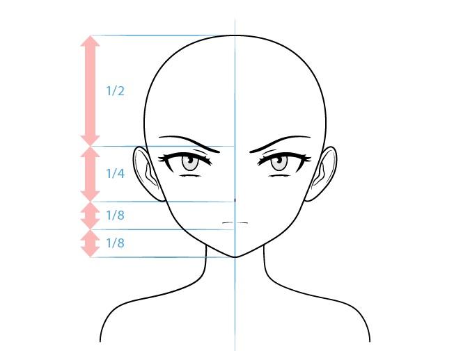 Gambar wajah karakter penjahat anime wanita