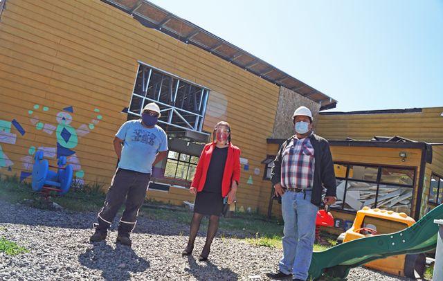 Alcaldesa visita obras