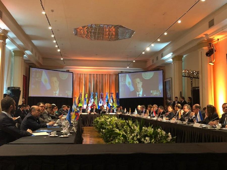Presidente encargado de Venezuela, Juan Guaido, interviene vía videoconferencia en reunión del Grupo de Lima en Argentina / VOA