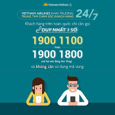 Vietnam Airlines phục vụ khách hàng mua vé 24/7