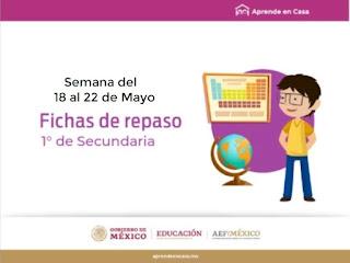 Secundaria Fichas para Aprender en Casa semana del 18 al 22 de mayo