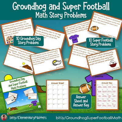 https://www.teacherspayteachers.com/Product/Groundhog-and-Super-Football-Math-Story-Problems-529764?utm_source=groundhog%20day%20blog%20post&utm_campaign=groundhog%20and%20super%20math