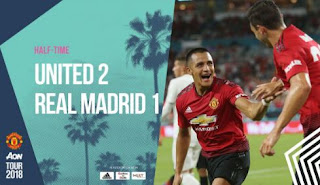 HT: Skor Manchester United vs Real Madrid 2-1 Highlights
