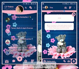 Teddy Bear On Flowers Theme For YOWhatsApp & Fouad WhatsApp By Thania