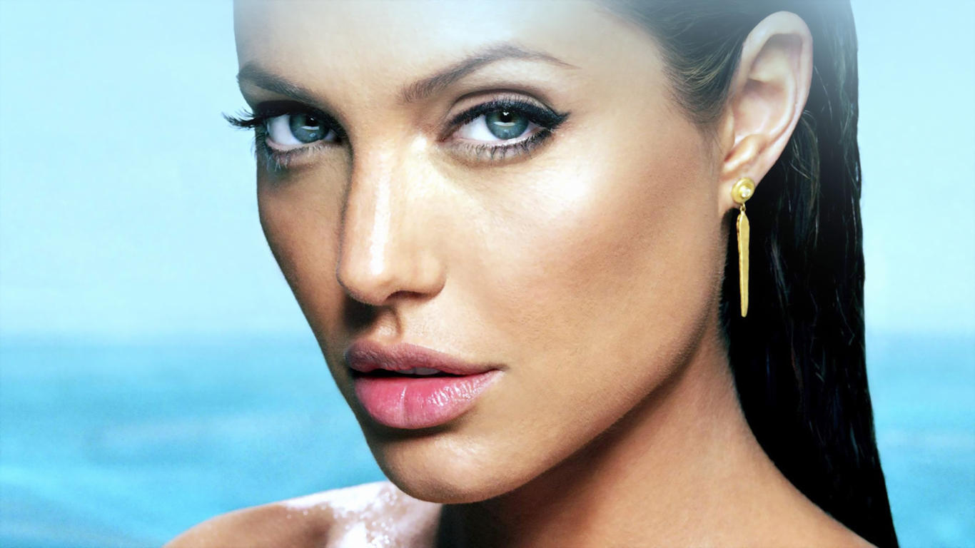 Angelina Jolie Beautiful Face HD Wallpaper