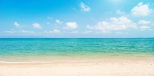 Tropical Turquoise Ocean Beach Print