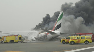 world news, Emirates flight crashed at Dubai international Airport