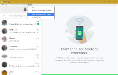 WHATSAPP DESKTOP PARA PC 32 E 64 BITS