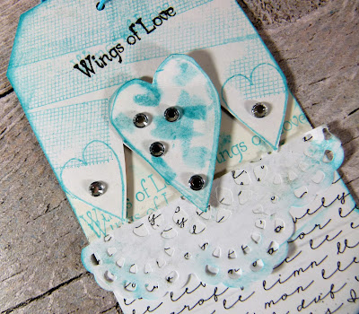 How to Create Wedding Themed  Tags With Hearty Doodles Stamps 8