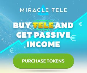 استثمر الان 10,000 TELE tokens مع miracletele بأرباح شهريه تصل الى 310 يورو