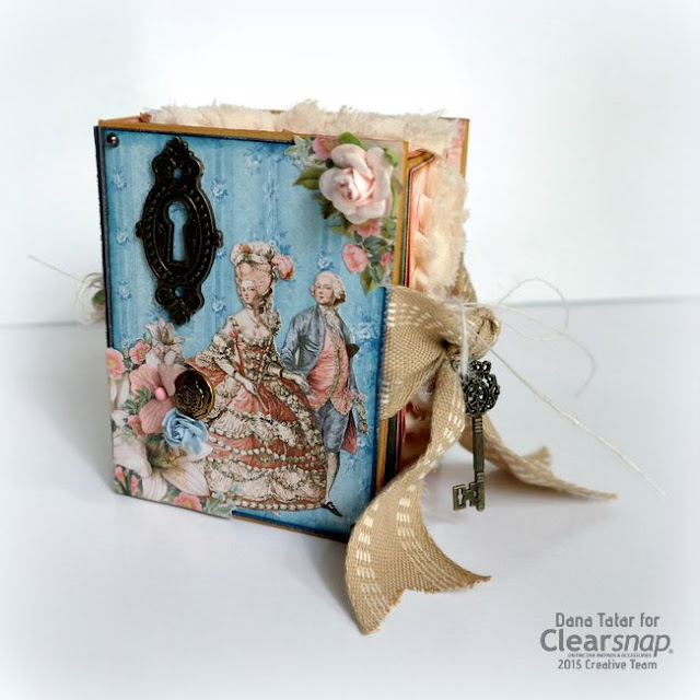 Graphic 45 Gilded Lily ATC Book Box by Dana Tatar for Clearsnap