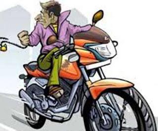 व्यापारी की बाइक चोरी कर पैदल ही भाग रहा था चोर, व्यापारियों ने दौड़ाकर पकड़ा, किया पुलिस के हवाले