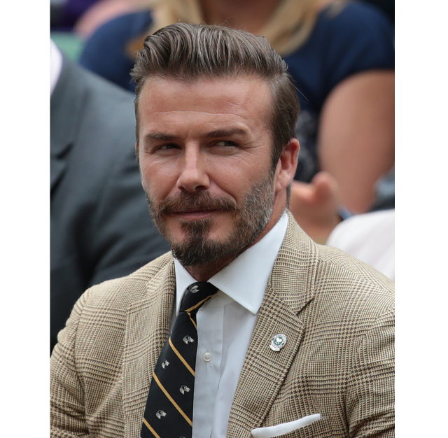 El ingles David Beckham con barba