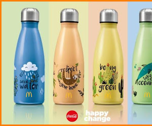 Botellas reutilizables en McDonald's ¡por 1€!