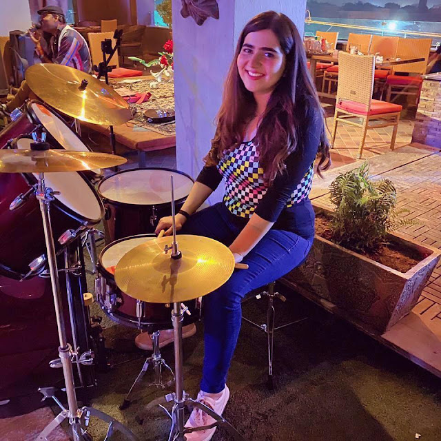 Alishba Kazi is a young female drummer from Pakistan. Read Alishba Kazi's interview with Musicians of Pakistan.