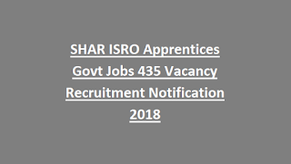 SHAR ISRO Apprentices Govt Jobs 435 Vacancy Recruitment Notification 2018