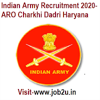Indian Army Recruitment 2020, ARO Charkhi Dadri Haryana
