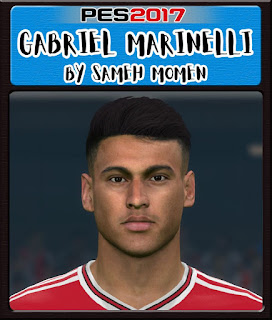 PES 2017 Faces Gabriel Martinelli by Sameh Momen