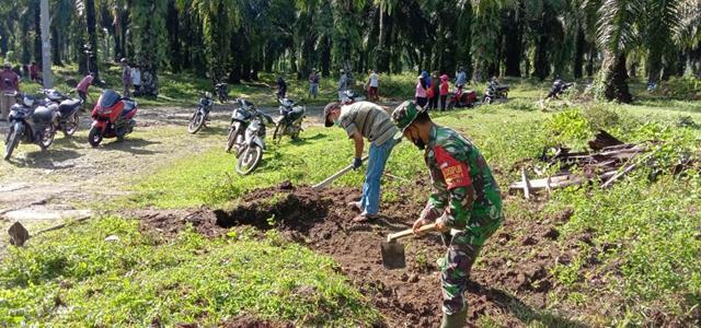 Marharoan Diwilayah Binaan, Personel Jajaran Kodim 0207/Simalungun Laksanakan Bersama Warga Masyarakat