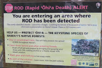 Deadly threat to Ohi'a trees - Hawaii Volcanoes National Park, HI