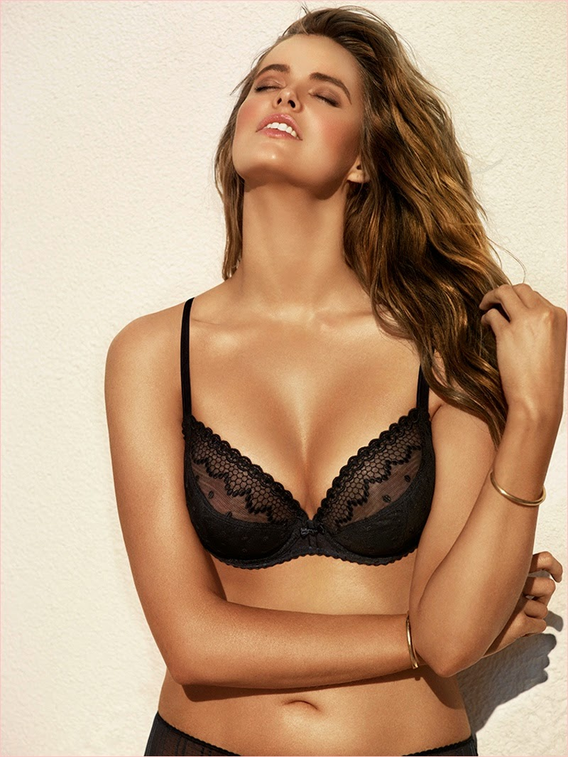 Robyn Lawley stars for the Chantelle Lingerie Spring 2014