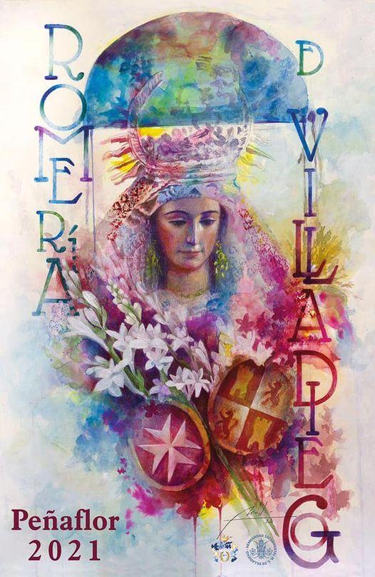 Cartel de la Romería de Ntra. Sra. de Villadiego 2021 en Peñaflor