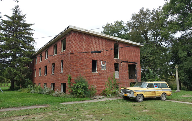 Abandoned ruins of Oak Park Academy in Nevada Iowa