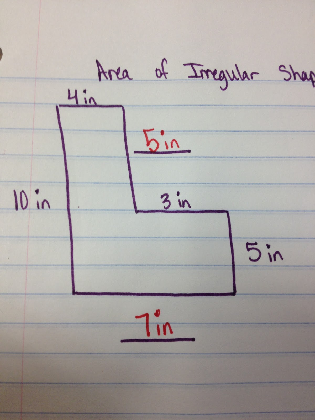 The 4th Grade May Niacs Finding The Area Of Irregular Shapes