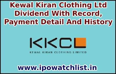 Kewal Kiran Clothing Dividend