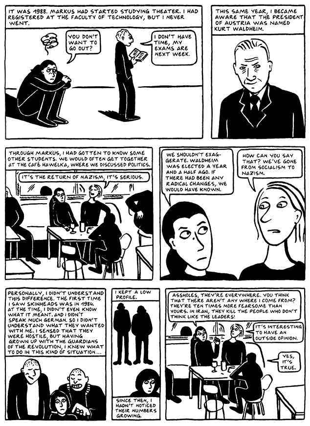 Read Chapter 8 - The Croissant, page 73, from Marjane Satrapi's Persepolis 2 - The Story of a Return