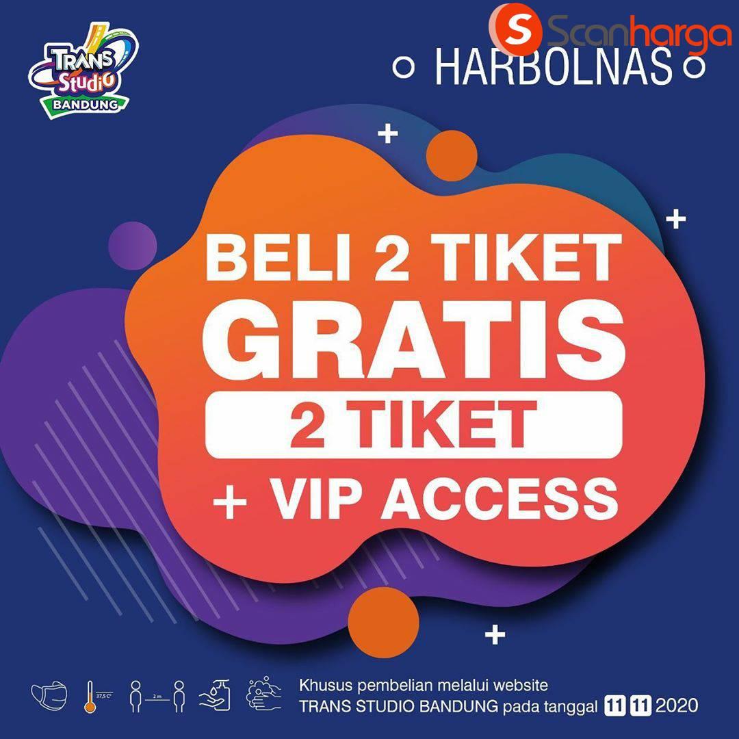 Trans Studio Bandung Promo 11.11 - Buy 2 Get 2 + 1 VIP Access