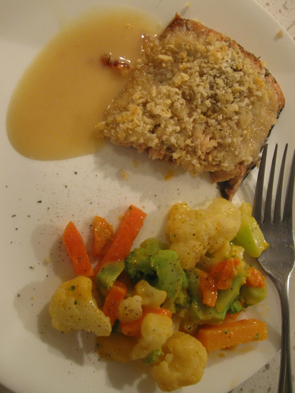 Just Cooking Baked Salmon With Mustard Crumb Crust