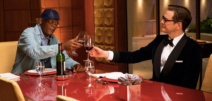 Samule L. Jackson şi Colin Firth în Kingsman: The Secret Service