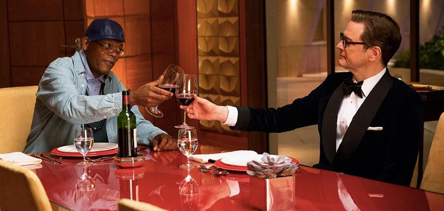 Samule L. Jackson şi Colin Firth în Kingsman: The Secret Service