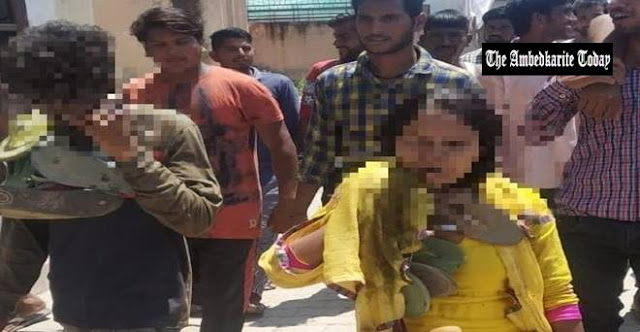Woman and Dalit lovers forcibly circulated in village wearing garlands of shoes in Haryana