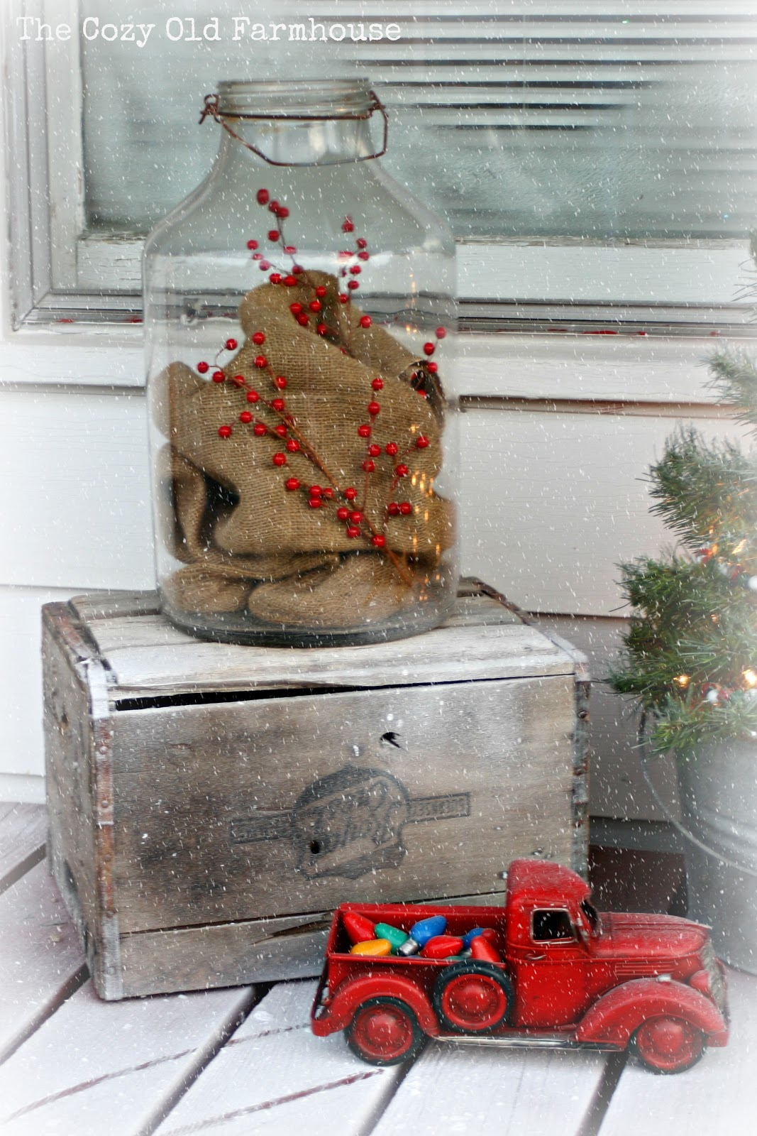 The cozy old farmhouse a junky christmas porch for After christmas decoration sales