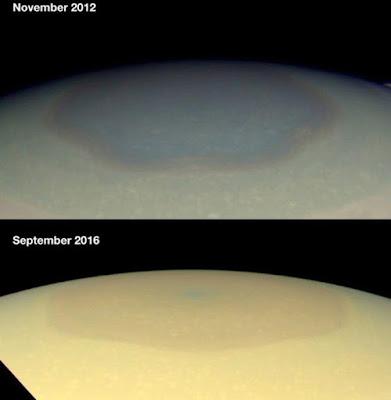 Fitur Hexagon Misterius di Saturnus Berubah Warna
