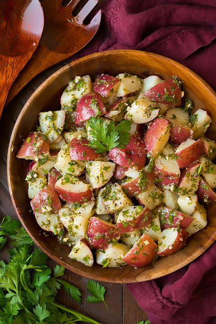 Potato Salad with Feta, French Onion Potato Salad Recipe, Garlic Herb ...