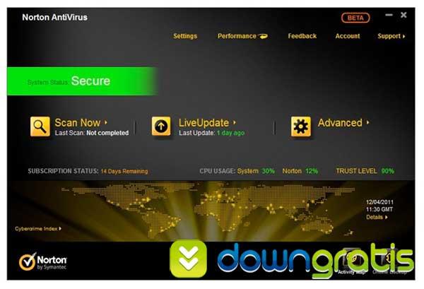 Norton anti vírus 2012