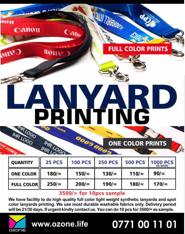 Ozone Branding | Full Color / Single Color High Quality Lanyard Printing