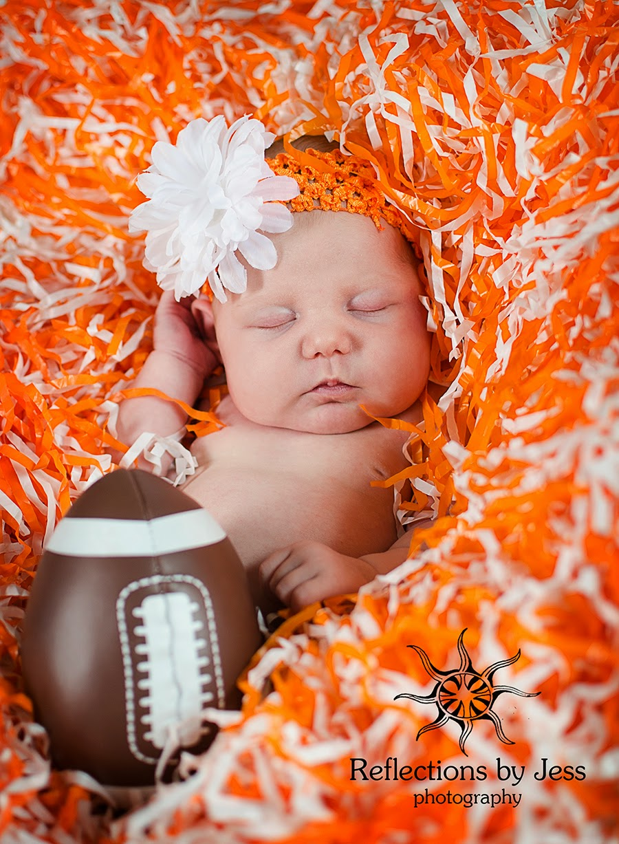 Introducing miss leona the newest member of the first year plan and of the vol nation mom and dad are big ut fans so we were pretty excited to work some